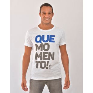 Camiseta Que Momento! Branca 519d9ae92086b