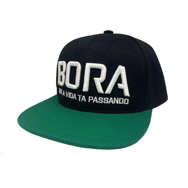 c03f2e1a2e28d Boné Aba Reta Bora Preto Verde - usebora