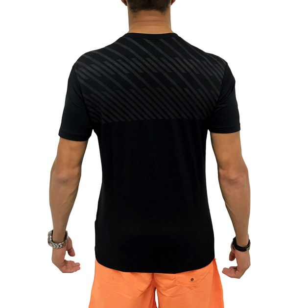 Camiseta Dry Fit Listras Back Preta - usebora ca1d250f4938b