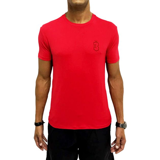 Camiseta Dry Fit Listras Back Vermelha - usebora b6ce97ba15a77