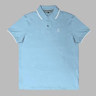 4707e1f4e Camisa Básica Pólo Azul Claro