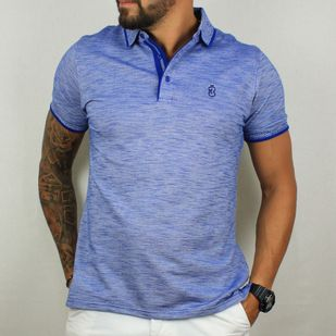92ed582496 Camisa Pólo Azul Mescla