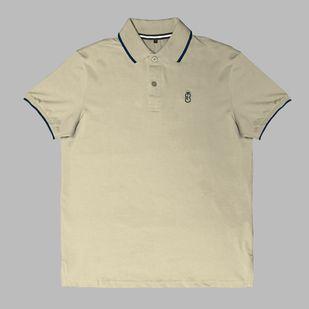 c025b22807 Camisa Básica Pólo Bege