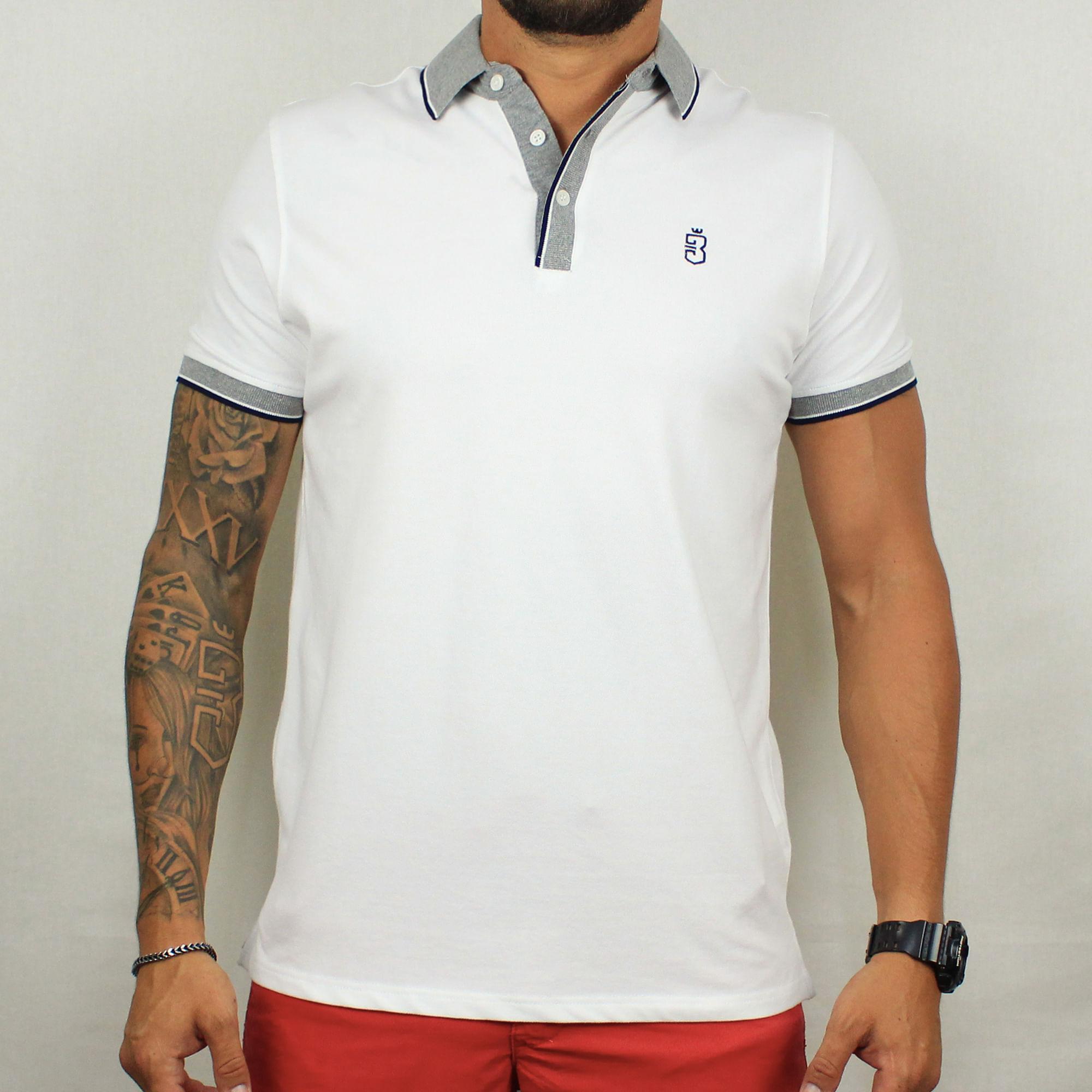 641d49b70 Camisa Polo Branca 338  Camisa Polo Branca 338. Lista de Desejos. usebora ·  Masculino · Pólos