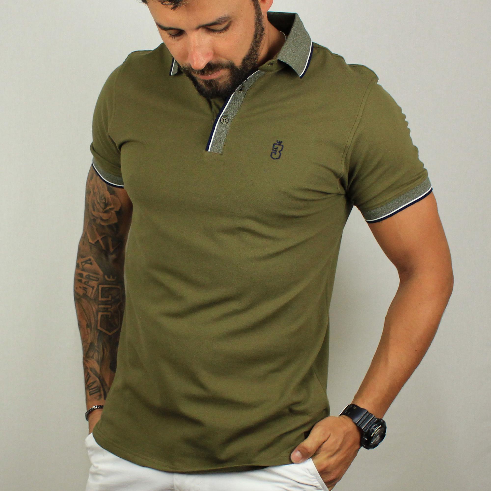 78e4d7b38 Camisa Polo Verde 694  Camisa Polo Verde 694. Lista de Desejos. usebora ·  Masculino · Pólos